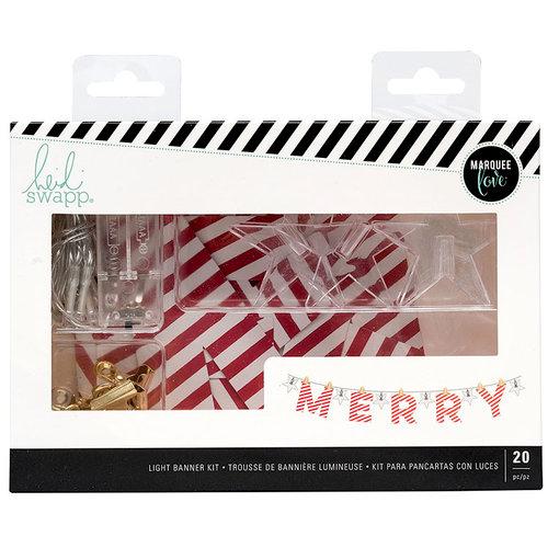Heidi Swapp - City Sidewalks Collection - Christmas - Banner Kit - Merry