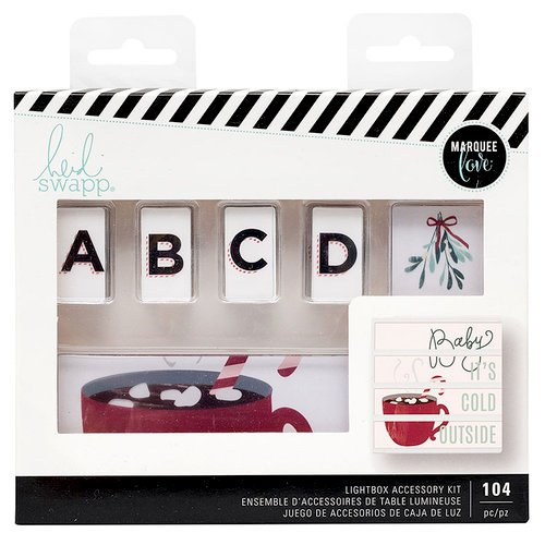 Heidi Swapp - LightBox Collection - City Sidewalks - Christmas - Mini Accessory Kit - Cold