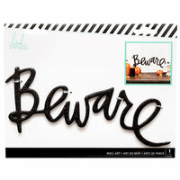 Heidi Swapp - Halloween - Chipboard Wall Words - Beware - Black Glitter