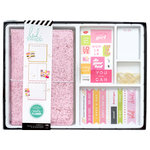 Heidi Swapp - Color Fresh Collection - Memory Planner - Planner - Traveler's - Box Kit - Pink Glitter - Undated