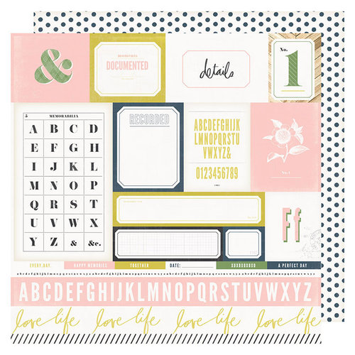 Heidi Swapp - Emerson Lane Collection - 12 x 12 Double Sided Paper - Easy Peasy