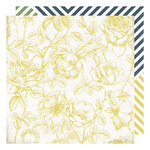 Heidi Swapp - Emerson Lane Collection - 12 x 12 Double Sided Paper - Pretty Please