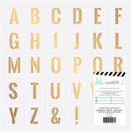 Heidi Swapp - Emerson Lane Collection - 12 x 12 Vellum Paper with Foil Accents - Stencil