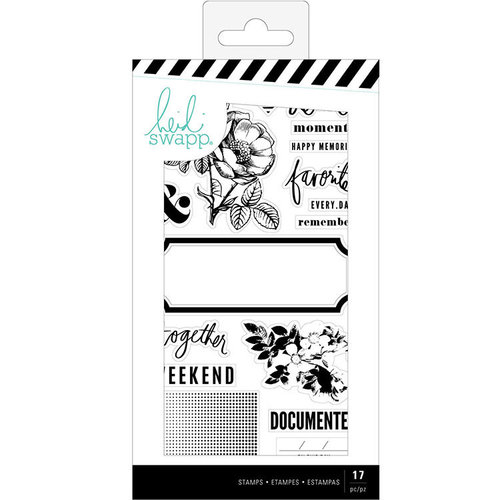 Heidi Swapp - Emerson Lane Collection - Clear Acrylic Stamps