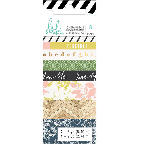 Heidi Swapp - Emerson Lane Collection - Washi Tape Set with Foil Accents