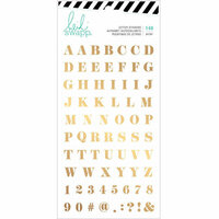 Heidi Swapp - Emerson Lane Collection - Cardstock Stickers with Foil Accents - Alphabet - Gold