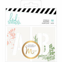 Heidi Swapp - Emerson Lane Collection - Alphabet Stencils