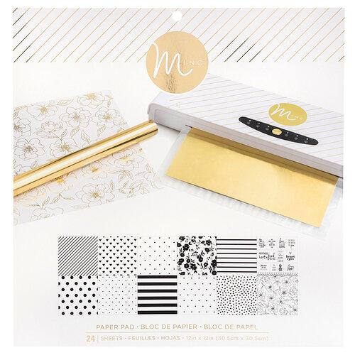Heidi Swapp - MINC Collection - Reactive Paper Pad - 12 x 12 - White
