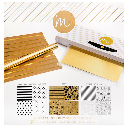 Heidi Swapp - MINC Collection - Reactive Paper Pad - 12 x 12 - Multicolor