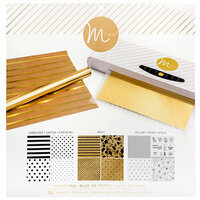 Heidi Swapp - MINC Collection - Reactive Paper Pad - 12 x 12 - Multicolor - 24 Pack