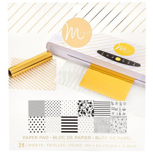 Heidi Swapp - MINC Collection - Reactive Paper Pad - 6 x 6 - White