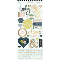 Heidi Swapp - Emerson Lane Collection - Cardstock Stickers with Foil Accents