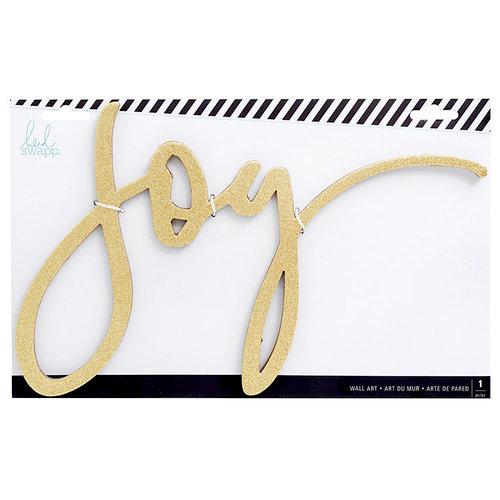 Heidi Swapp - City Sidewalks Collection - Christmas - Chipboard Wall Words - Joy - Gold Glitter