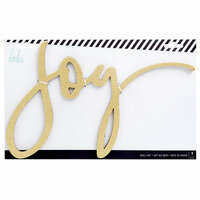 Heidi Swapp - City Sidewalks Collection - Christmas - Chipboard Wall Words - Joy - Gold Glitter