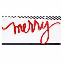 Heidi Swapp - City Sidewalks Collection - Christmas - Chipboard Wall Words - Merry - Red Glitter