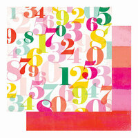 Heidi Swapp - Color Fresh Collection - 12 x 12 Double Sided Paper - Counting On You