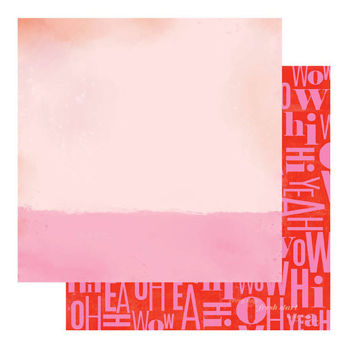 Heidi Swapp - Color Fresh Collection - 12 x 12 Double Sided Paper - Oh Yeah
