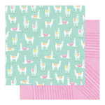 Heidi Swapp - Color Fresh Collection - 12 x 12 Double Sided Paper - Llama Drama