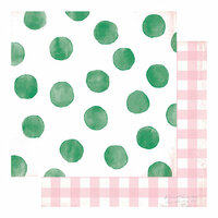 Heidi Swapp - Color Fresh Collection - 12 x 12 Double Sided Paper - Tickled Pink