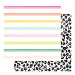 Heidi Swapp - Color Fresh Collection - 12 x 12 Double Sided Paper - Wild Side