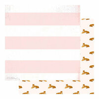 Heidi Swapp - Color Fresh Collection - 12 x 12 Double Sided Paper - Hear Me Roar