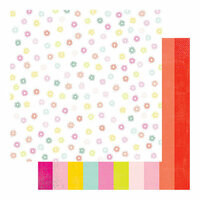 Heidi Swapp - Color Fresh Collection - 12 x 12 Double Sided Paper - Spectrum