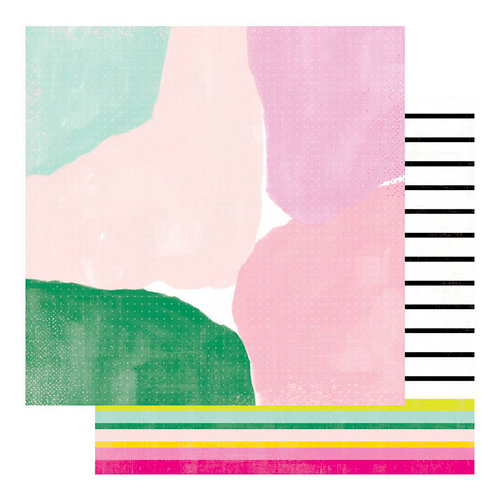 Heidi Swapp - Color Fresh Collection - 12 x 12 Double Sided Paper - Fine Line