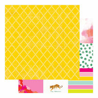 Heidi Swapp - Color Fresh Collection - 12 x 12 Double Sided Paper - Note It