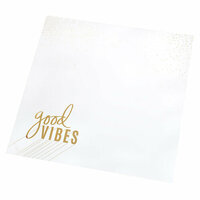 Heidi Swapp - Color Fresh Collection - 12 x 12 Paper with Foil Accents - Good Vibes