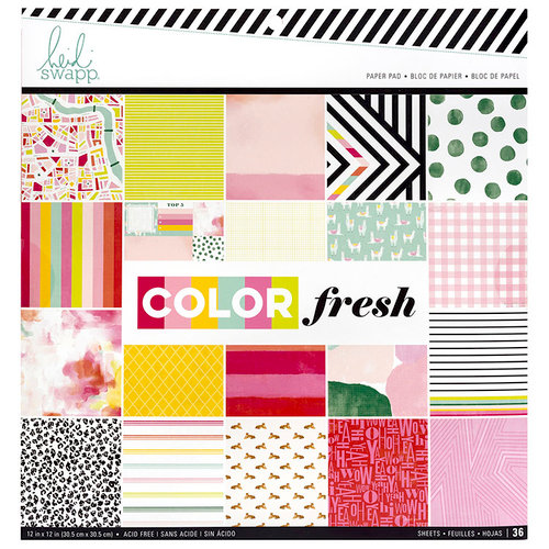 Heidi Swapp - Color Fresh Collection - 12 x 12 Paper Pad