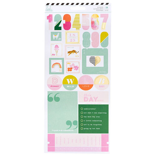 Heidi Swapp - Color Fresh Collection - Cardstock Stickers with Foil Accents