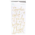 Heidi Swapp - Color Fresh Collection - Puffy Stickers with Foil Accents