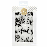 Heidi Swapp - MINC Collection - Clear Acrylic Stamps - Floral