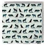 Heidi Swapp - Wolf Pack Collection - 12 x 12 Double Sided Paper - Wolf Pack
