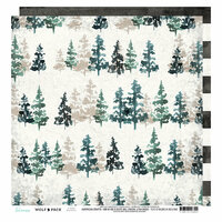 Heidi Swapp - Wolf Pack Collection - 12 x 12 Double Sided Paper - Woodsy