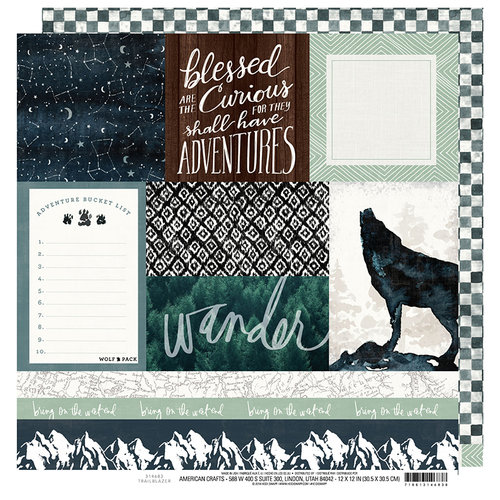 Heidi Swapp - Wolf Pack Collection - 12 x 12 Double Sided Paper - Trailblazer