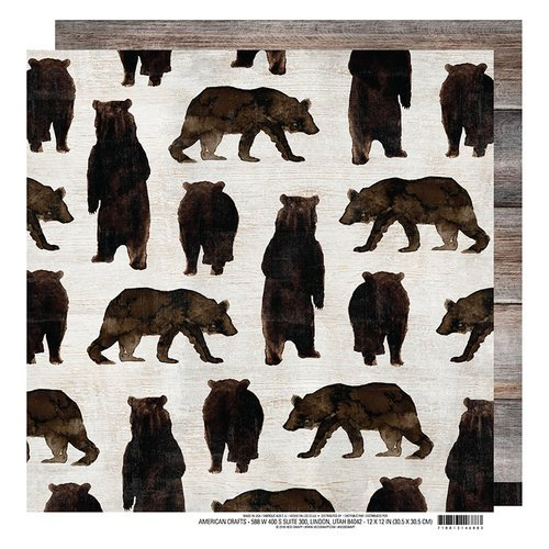 Heidi Swapp - Wolf Pack Collection - 12 x 12 Double Sided Paper - Mama Bear