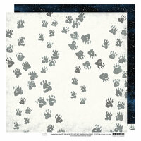 Heidi Swapp - Wolf Pack Collection - 12 x 12 Double Sided Paper - Tracks
