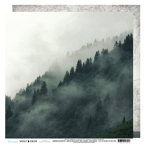 Heidi Swapp - Wolf Pack Collection - 12 x 12 Double Sided Paper - Mountainside