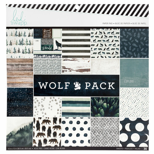 Heidi Swapp - Wolf Pack Collection - 12 x 12 Paper Pad