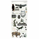 Heidi Swapp - Wolf Pack Collection - Cardstock Stickers with Foil Accents