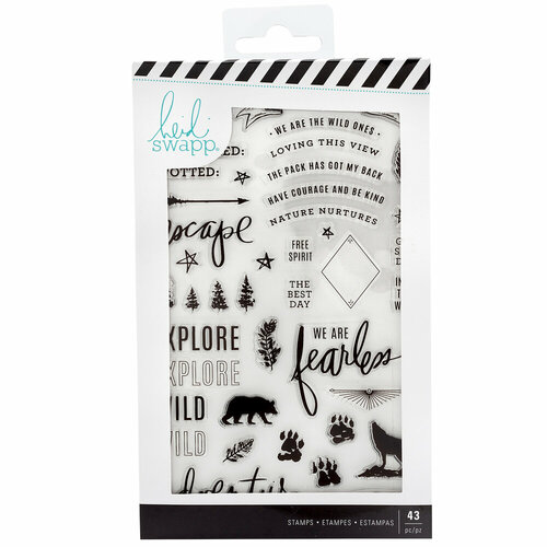 Heidi Swapp - Wolf Pack Collection - Clear Acrylic Stamps