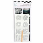 Heidi Swapp - Wolf Pack Collection - Stickers and Foil Rub-On Kit