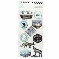 Heidi Swapp - Wolf Pack Collection - Embossed Stickers