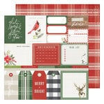 Heidi Swapp - Winter Wonderland Collection - 12 x 12 Double Sided Paper - Merry & Bright