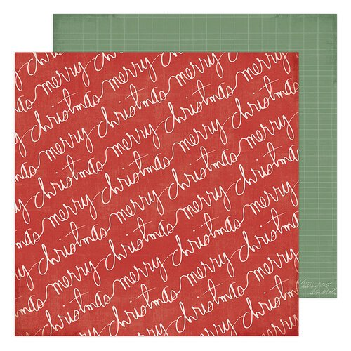 Heidi Swapp - Winter Wonderland Collection - 12 x 12 Double Sided Paper - Merry Christmas