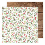 Heidi Swapp - Winter Wonderland Collection - 12 x 12 Double Sided Paper - Woodland