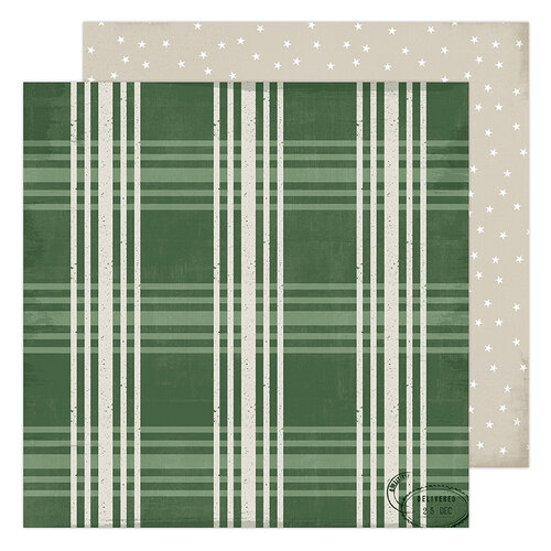 Heidi Swapp - Winter Wonderland Collection - 12 x 12 Double Sided Paper - Fresh Pine