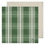 Heidi Swapp - Winter Wonderland Collection - 12 x 12 Double Sided Paper - Fresh Pine