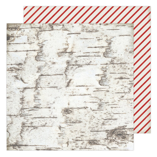 Heidi Swapp - Winter Wonderland Collection - 12 x 12 Double Sided Paper - Candy Cane Forest